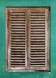 Old window with wooden lattice Royalty Free Stock Photo