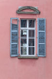 Old window with wooden shutters Royalty Free Stock Image