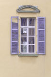 Old window with wooden shutters Stock Image