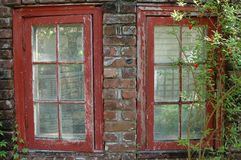 Old Windows. Photographed from an 1800s house at St. Augustine, Florida Royalty Free Stock Photos