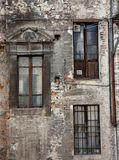 Old windows in ancient town Royalty Free Stock Photos