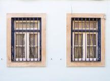 Old windows in Bairro Alto, Lisbon, Portugal Royalty Free Stock Image