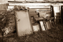 Old windows and boards Royalty Free Stock Images