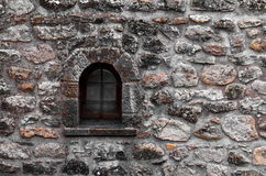 Old windows on brick wall Stock Images