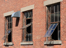 Old Windows in Brick Wall Royalty Free Stock Photos