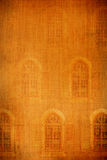 Old windows canvas. Old textured brown windows canvas Royalty Free Stock Photo