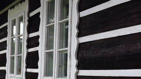 Old windows, Donovaly, Slovakia stock video footage