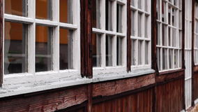 Old windows, Donovaly, Slovakia Royalty Free Stock Photo