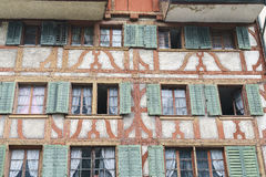 Old windows in Lucern, Switzerland Royalty Free Stock Photography