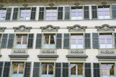 Old windows in Lucern, Switzerland Stock Image