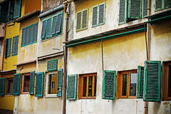 Old windows in Ponte Vecchio Royalty Free Stock Images