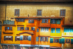 Old windows in Ponte Vecchio Royalty Free Stock Photo