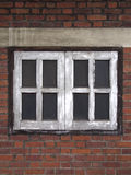 Old Windows and Red Bricks Stock Image