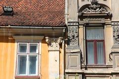 Old windows in Romania Stock Photos