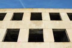 Old windows on ruin house. Stock image Stock Photo