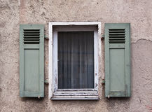 Old Windows and Shutters Royalty Free Stock Photography