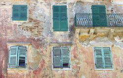 Old Windows with Shutters Royalty Free Stock Image