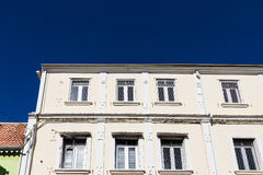 Old Windows with Steel Mesh Royalty Free Stock Images