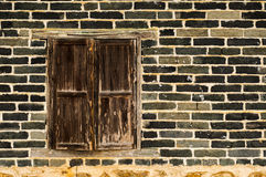 Old windows and wall texture stock photo