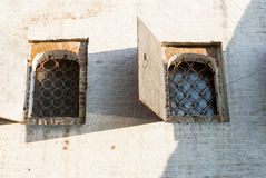 Old windows in the wall. Vintage window openings in the old wall of the Novodevichy Convent Stock Photography