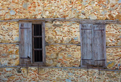 Old windows. Window of the old abandoned house stock image