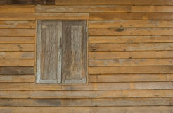 Old windows wood of wooden house. In Thailand Stock Photos