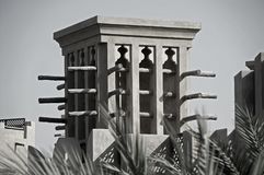 A Old Windtower in Dubai Stock Image