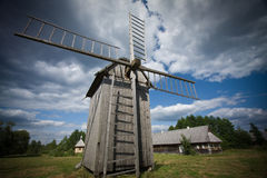 Old windturbine Stock Images