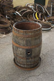 Old Wine Barrel Stock Photo