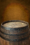 Old wine barrel as background Stock Photo