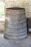 Old wine barrel in the Dryanovo Monastery in Bulgaria Royalty Free Stock Photo