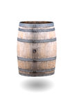 Old Wine Barrel Isolated on White Background Royalty Free Stock Photos