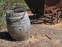 Old Wine Barrel Landscape Royalty Free Stock Photos