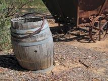 Old Wine Barrel Landscape Royalty Free Stock Photos