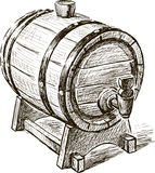Old wine barrel Stock Images