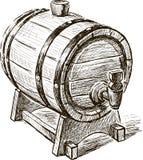 Old wine barrel vector illustration