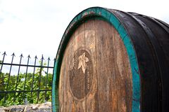 Old wine barrel Royalty Free Stock Photography