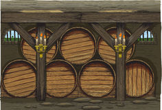 An old wine barrels Stock Images