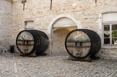 Old Wine Barrels Stock Photos