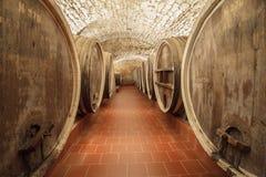 Old wine barrels Stock Photos
