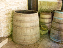 Old wine barrels in the Dryanovo Monastery in Bulgaria Stock Photos