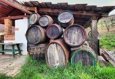 Old wine barrels Stock Image