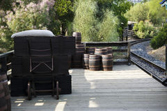 Old wine barrels Royalty Free Stock Image