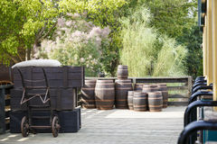 Old wine barrels Royalty Free Stock Photography