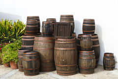 Old wine barrels Royalty Free Stock Photo