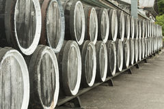 Old wine barrels Stock Image