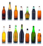 Old wine bottles Stock Photos