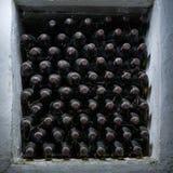 Old wine bottles Stock Photos