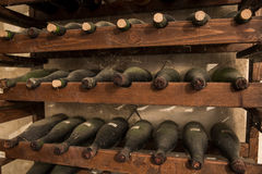 Old wine bottles Stock Photography