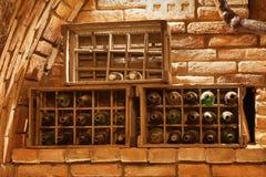 Old wine bottles Stock Images
